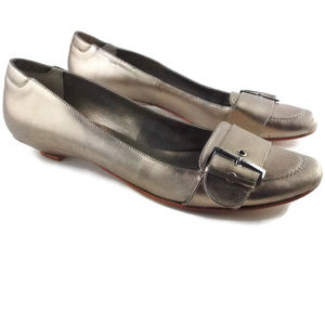 ANTHROPOLOGIE Klub Nico Gold Leather Loafers